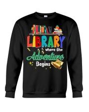 Library Where The Adventure Begins Crewneck Sweatshirt thumbnail