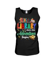 Library Where The Adventure Begins Unisex Tank thumbnail