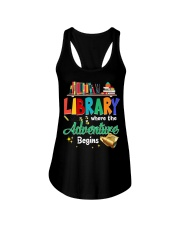 Library Where The Adventure Begins Ladies Flowy Tank thumbnail