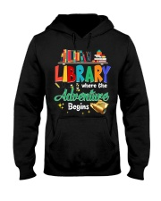 Library Where The Adventure Begins Hooded Sweatshirt thumbnail
