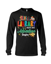 Library Where The Adventure Begins Long Sleeve Tee thumbnail
