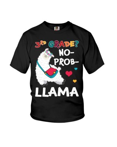 3rd Grade No Prob-Llama Funny Back To School