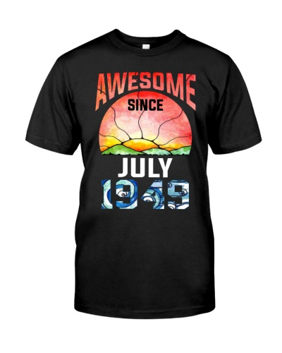 Awesome Since July 1949 Vintage 70th Birthday