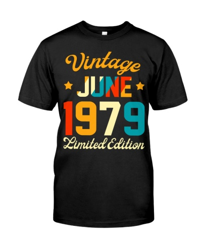 Made in June 1979 Vintage 40th Birthday 40 years