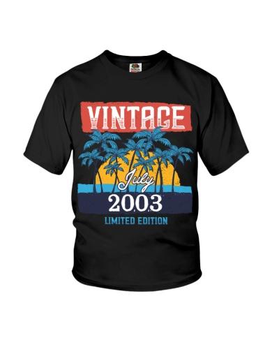 Retro Vintage July 2003 Vintage 16th Birthday