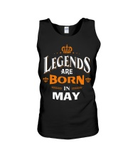 LEGENDS ARE BORN IN MAY Unisex Tank tile