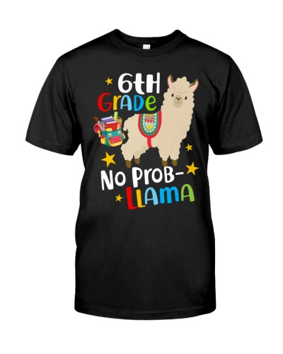 6th Grade No Prob-Llama Back To School Boy Girl