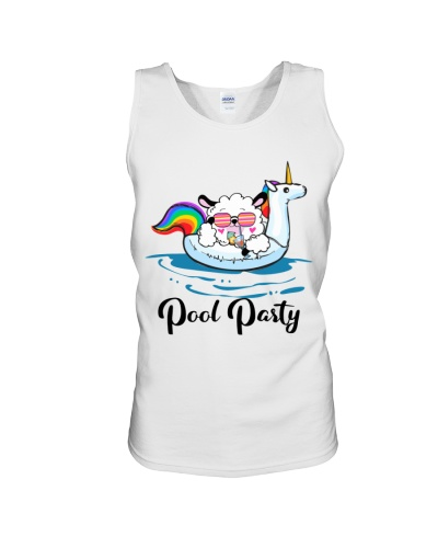 Pool Party Llama And Unicorn Float Funny Summer