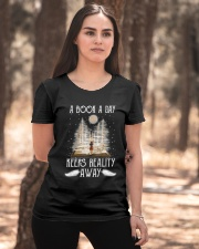 A Book A Day Keeps Reality Away Ladies T-Shirt apparel-ladies-t-shirt-lifestyle-05