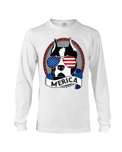 Merica Pitbull Funny Patriotic Dog Pit Bull Gift