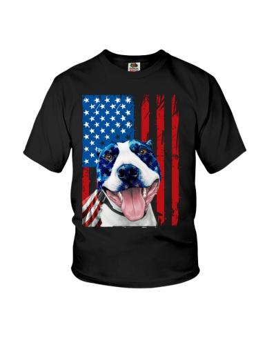 Pitbull American Flag 4th Of July Day Pitbull Love