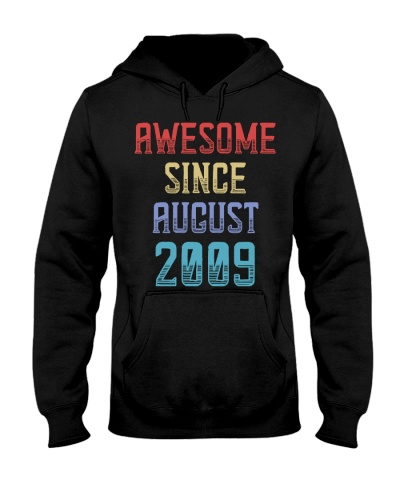 Awesome since August 2009 10th Birthday Gift