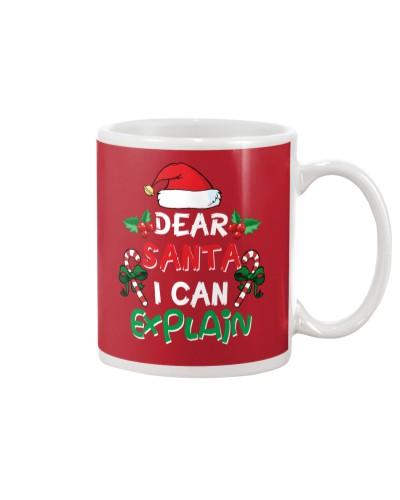 Dear Santa I Can Explain Funny Santa Claus Joke
