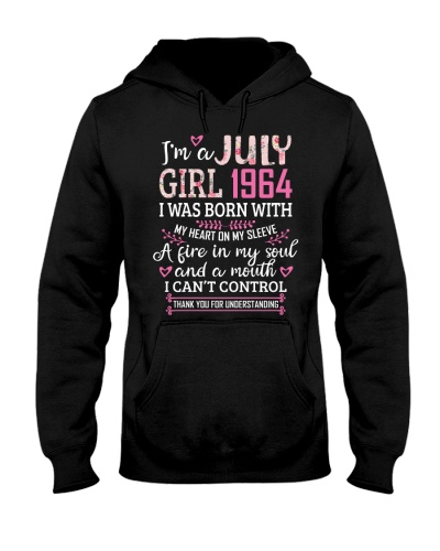 Womens I'm A July Girl 1964 55 Years Old