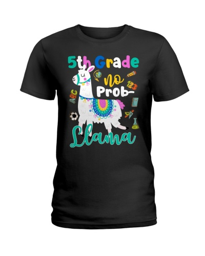 5th Grade No Prob-Llama Funny Back To School