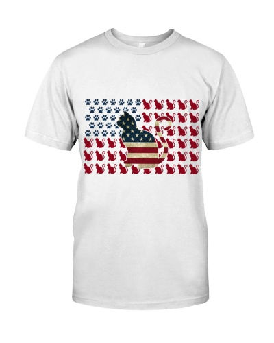 American Flag Cat 4th Of July Gift