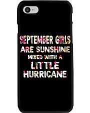 SEPTEMBER GIRL SUNSHINE MIXED WTH LITTLE HURRICANE Phone Case thumbnail