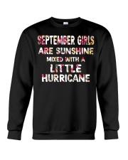 SEPTEMBER GIRL SUNSHINE MIXED WTH LITTLE HURRICANE Crewneck Sweatshirt thumbnail