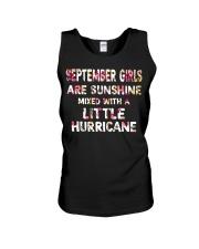 SEPTEMBER GIRL SUNSHINE MIXED WTH LITTLE HURRICANE Unisex Tank thumbnail