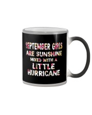 SEPTEMBER GIRL SUNSHINE MIXED WTH LITTLE HURRICANE Color Changing Mug thumbnail
