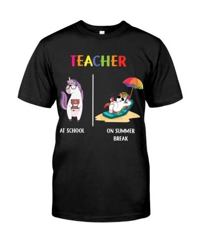 Unicorn Different Teacher On Summer Break
