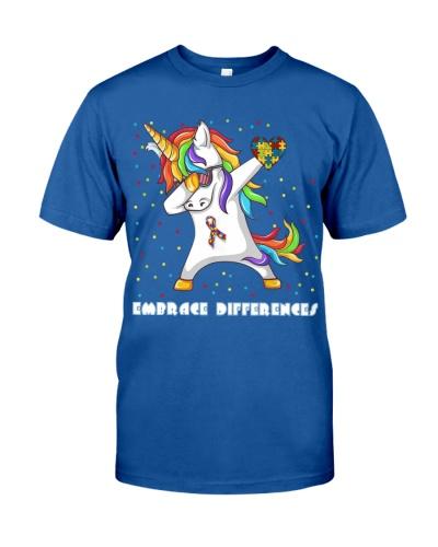 Embrace Differences Dabbing Unicorn