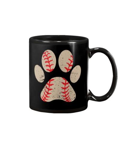 Dog Paw Baseball Perfect Gift For Baseball Lovers