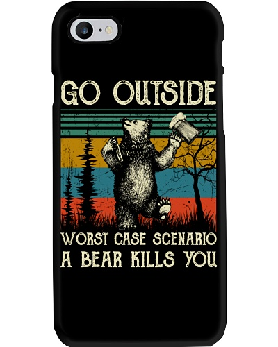 Vintage Go Outside Worst Case Scenario A Bear Kill