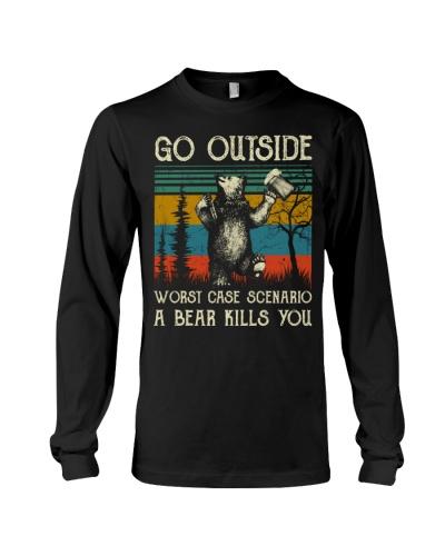 Vintage Go Outside Worst Case Scenario A Bear Kill