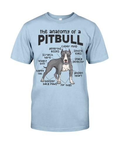Anatomy Of A Pitbull Men Women Gift Dog