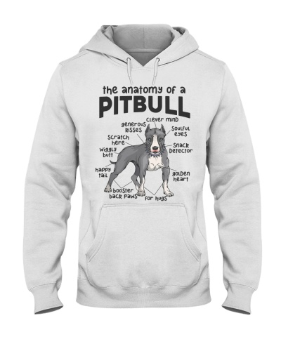Anatomy Of A Pitbull Men Women Gift Dog