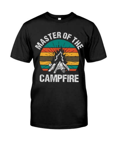 Master Of The Campfire Retro Vintage Camping
