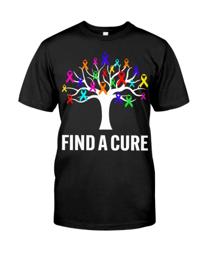 Find A Cure Rainbow Ribbons For Cancer