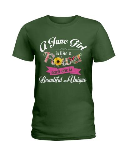 A JUNE GIRL IS LIKE A FLOWER