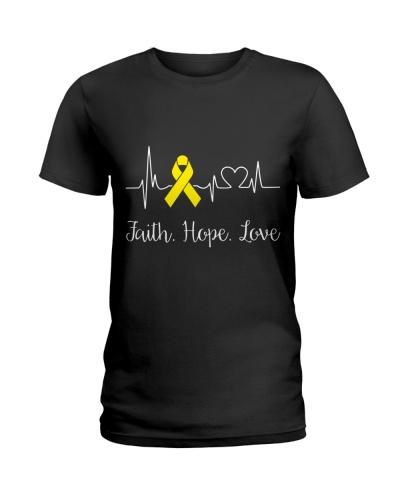 Faith Hope Love Heartbeat Sarcoma Cancer Awareness