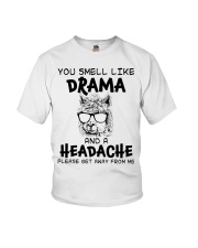You Smell Like A Drama And A Headache Funny Llama Youth T-Shirt thumbnail