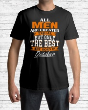 ONLY THE BEST ARE BORN IN OCTOBER Classic T-Shirt lifestyle-mens-crewneck-front-1