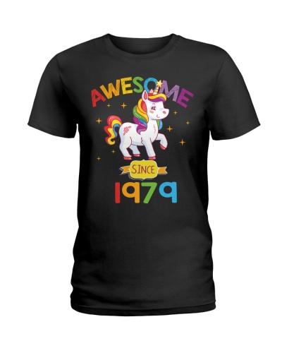 1979 40th Birthday Gift Unicorn Rainbow 40 Years