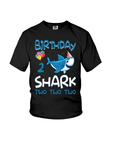 Birthday Shark 2 Years Old 2017 2nd Birthday Kids