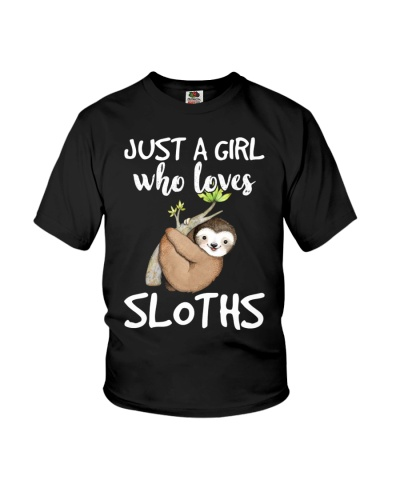 Just A Girl Who Loves Sloths National Lazy Day
