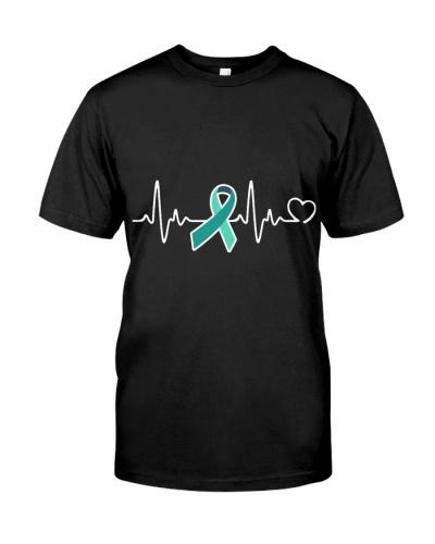 Ovarian Cancer Awareness Support Ribbon