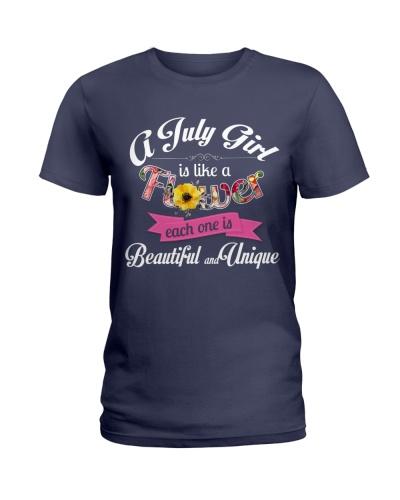 A JULY GIRL IS LIKE A FLOWER