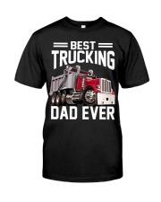 Men Trucking Best Trucking Dad Ever Classic T-Shirt front