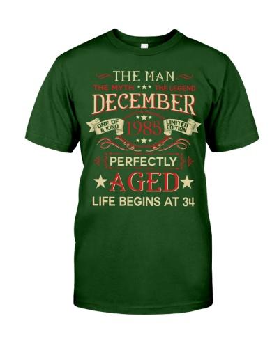 34th Birthday The Man Myth Legend December 1985