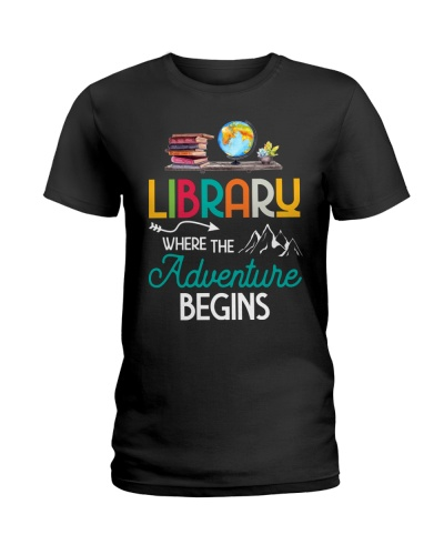 Library Where The Adventure Begins Book Lovers