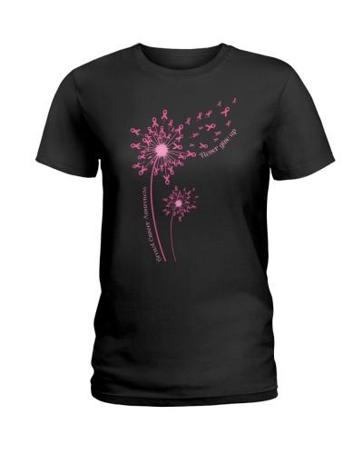 Dandelion Breast Cancer Awareness Never Give Up