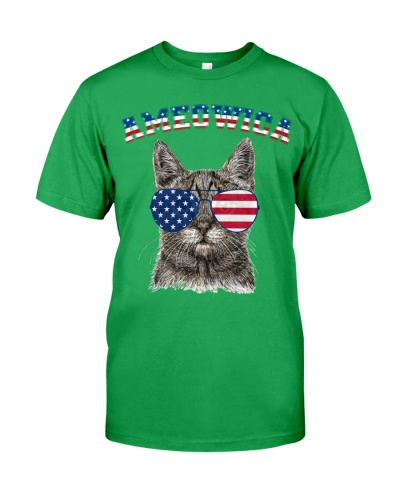 Ameowica Meow Cat American Flag 4th Of July