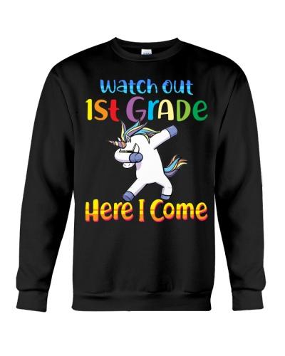 1st Grade Here I Come Unicorn Back To School