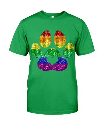 Rainbow Paw Print Dog Paw LGBT Gay Pride