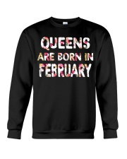 QUEENS ARE BORN IN FEBRUARY Crewneck Sweatshirt thumbnail